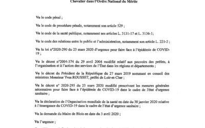 Interdiction circulation berges de la Loire