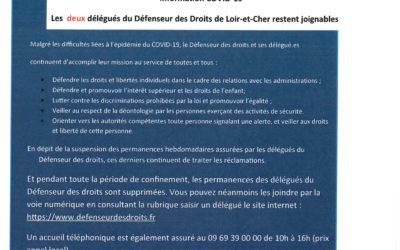 Délégués défenseurs des droits en Loir-et-Cher