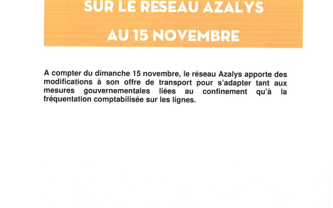 Azalys, point de situation covid -19