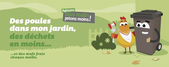 Des poules dans mon jardin, des déchets en moins !