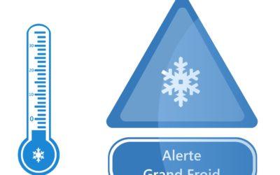 Vigilance jaune «neige-verglas» et «grand froid»